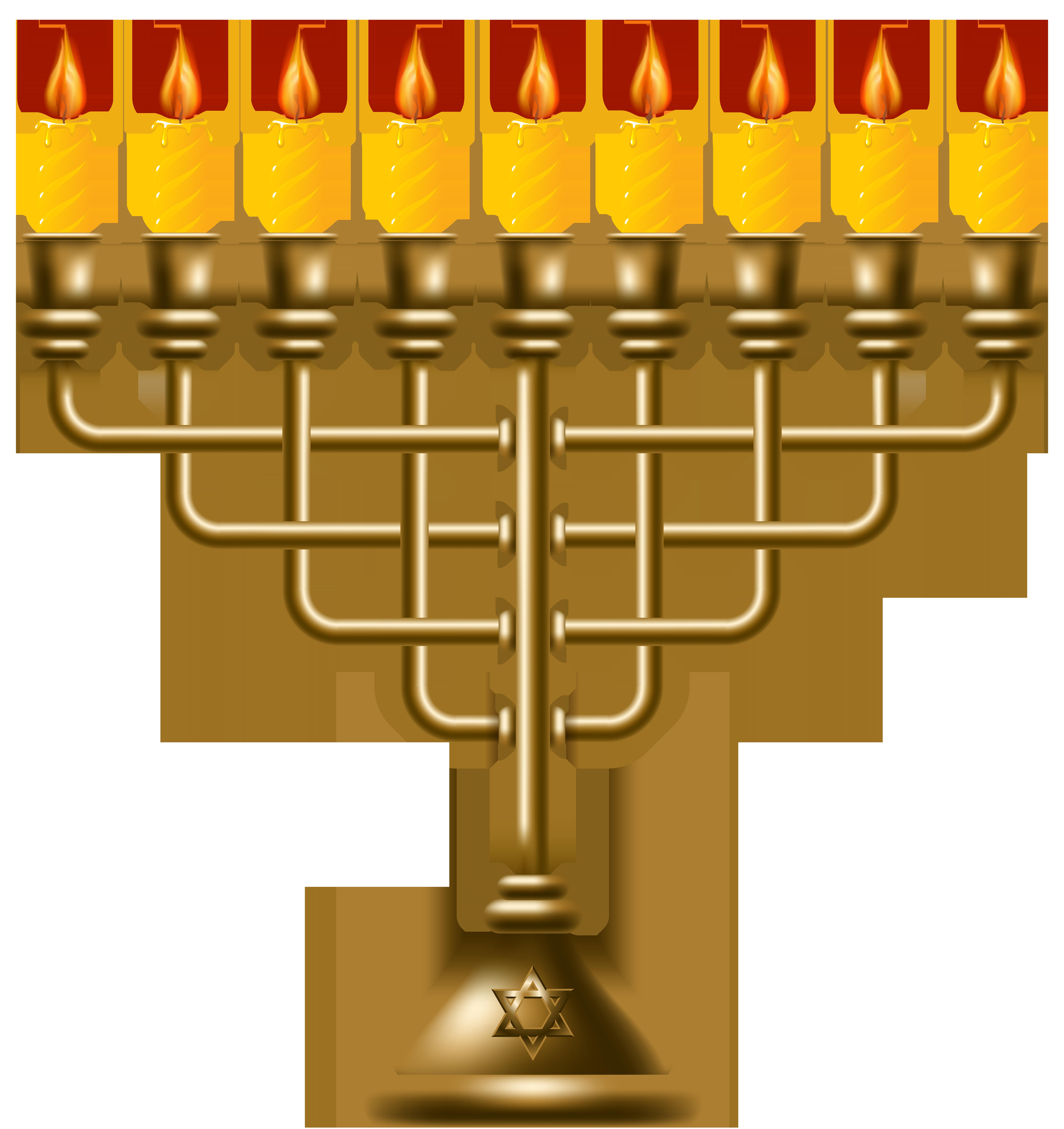 clip freeuse Hanukkah clipart. Golden menorah png clip