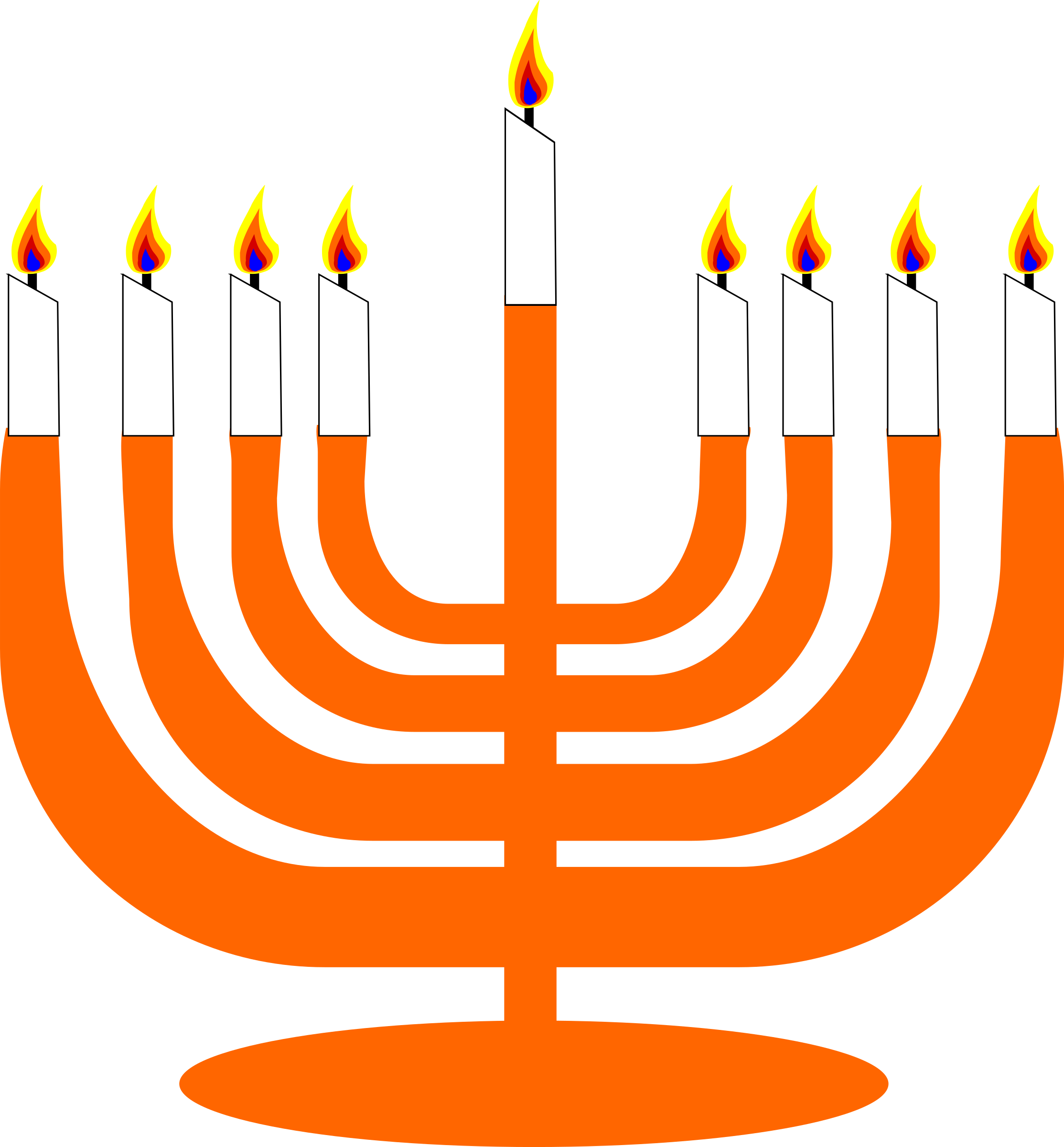 graphic freeuse download Simple menorah for with. Hanukkah clipart