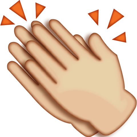 png transparent download Download clapping hands emoji. Happiness clipart applause