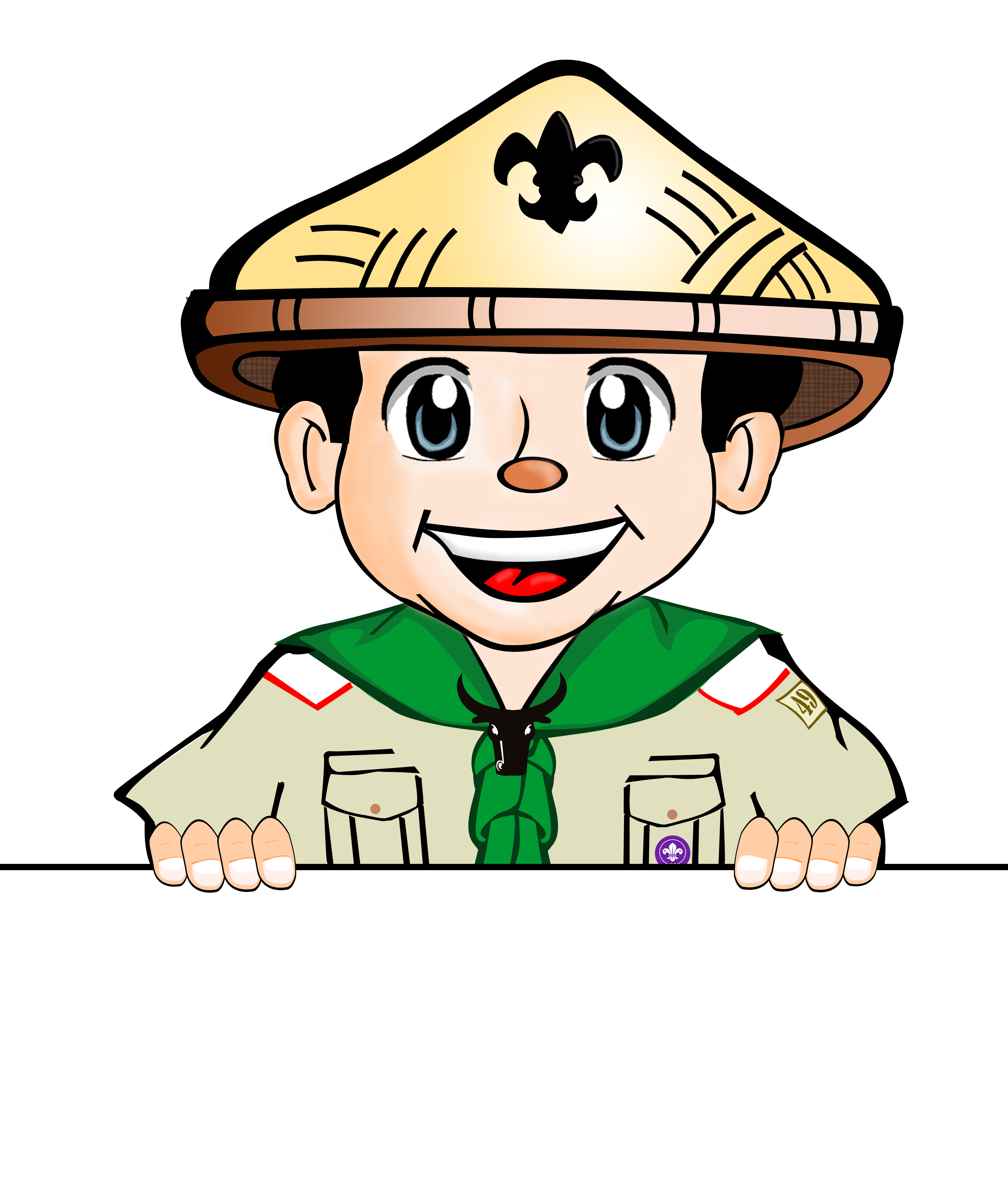 clip library stock Elementary Boy Scout