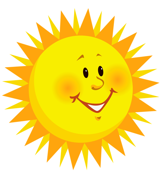 transparent Transparent Smiling Sun PNG Clipart Picture