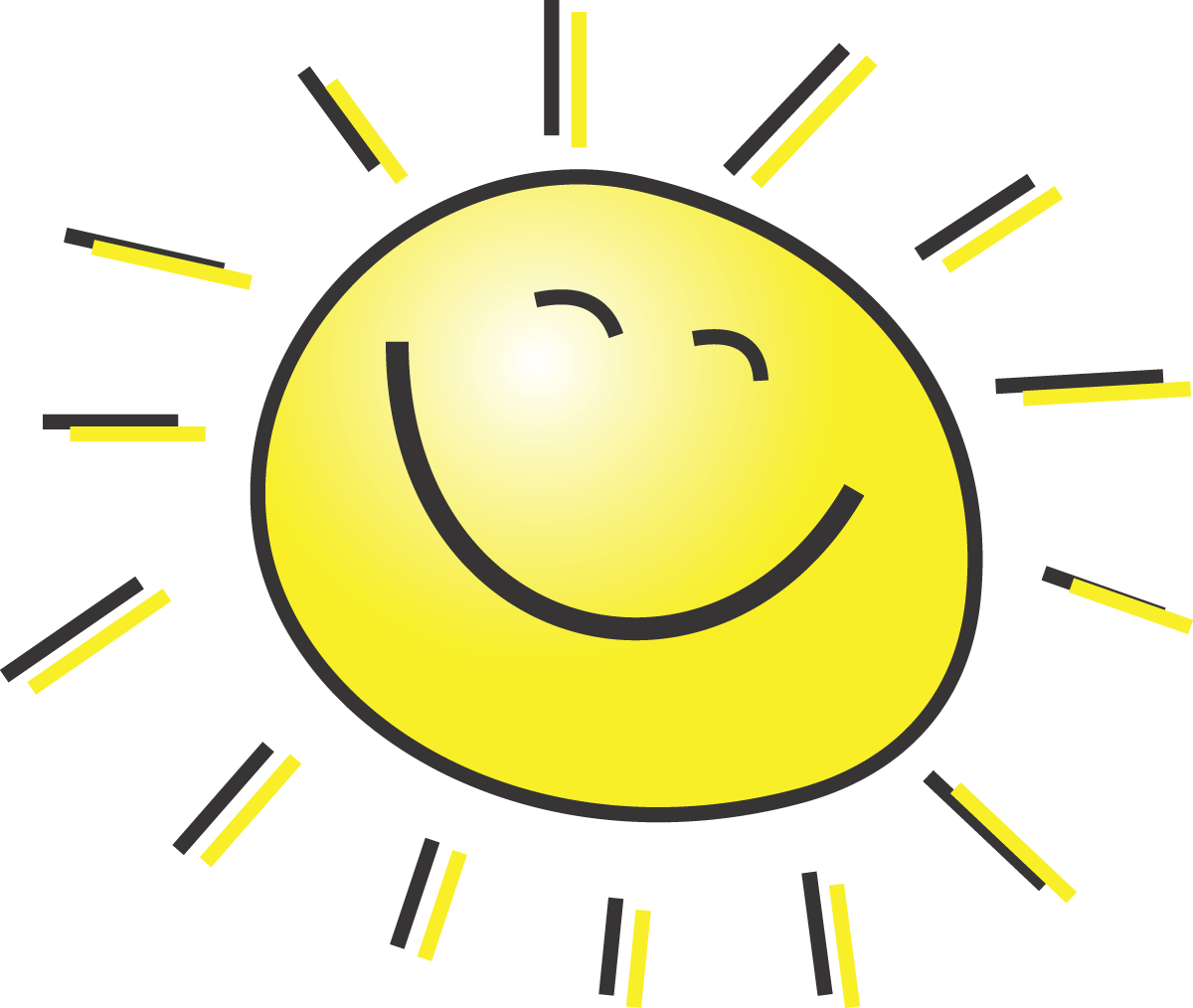 svg library Half sun clipart black and white. Free images clipartix