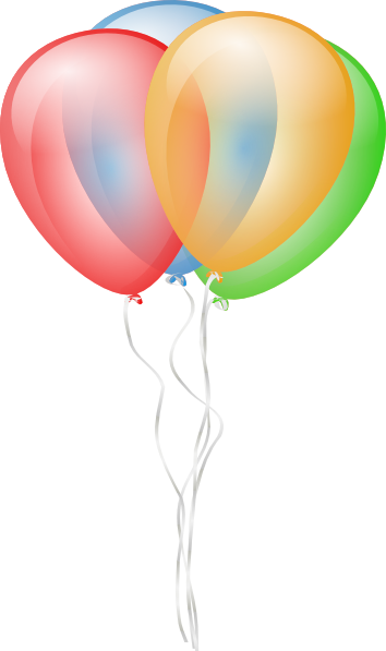 banner library stock Happy birthday balloons clipart. Free balloon clip art