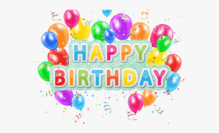 clipart stock Png text . Happy birthday balloons clipart