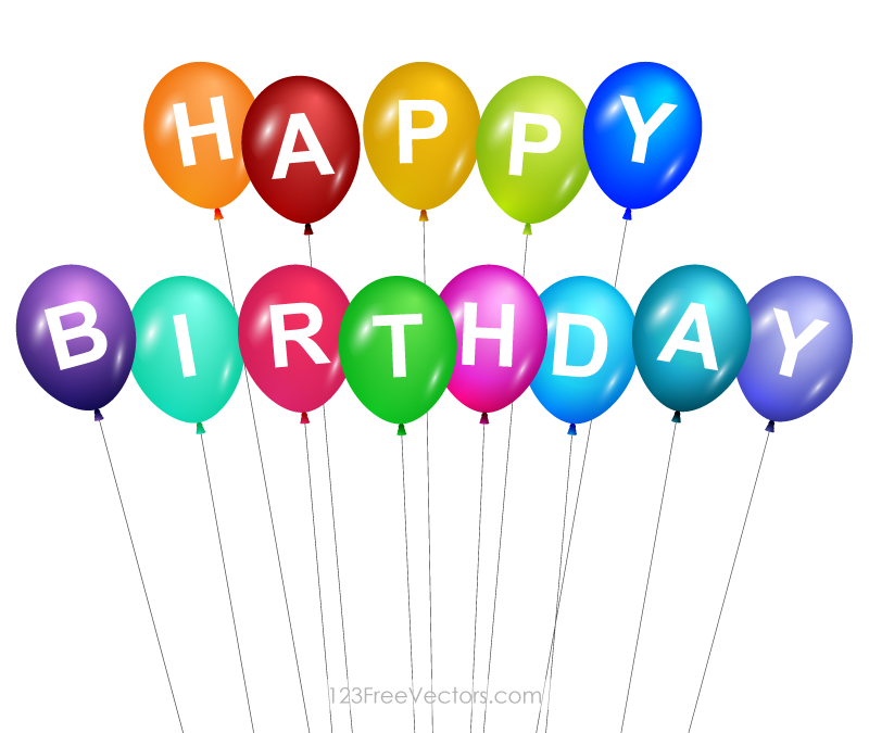 clipart library download Free cliparts download clip. Happy birthday balloons clipart