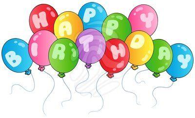 clipart Clip art . Happy birthday balloons clipart
