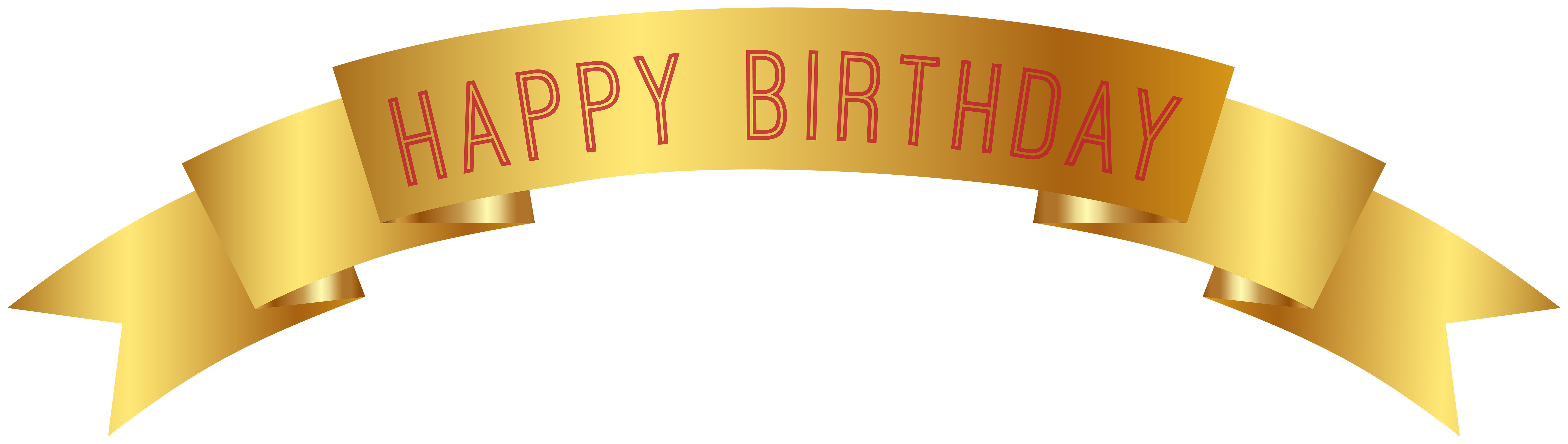 banner library download Happy birthday banner clipart. Gold png clip art