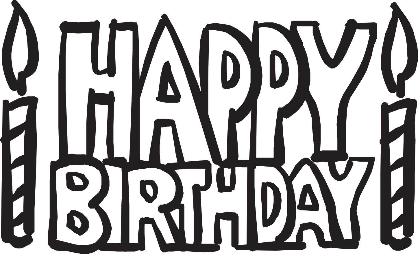 clip art transparent library Happy birthday black and white clipart. Clown balloons
