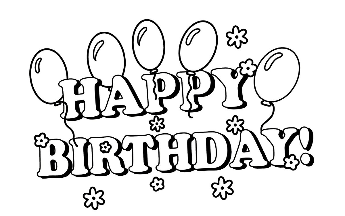 clip royalty free Happy birthday black and white clipart. Sumeet raghvan at