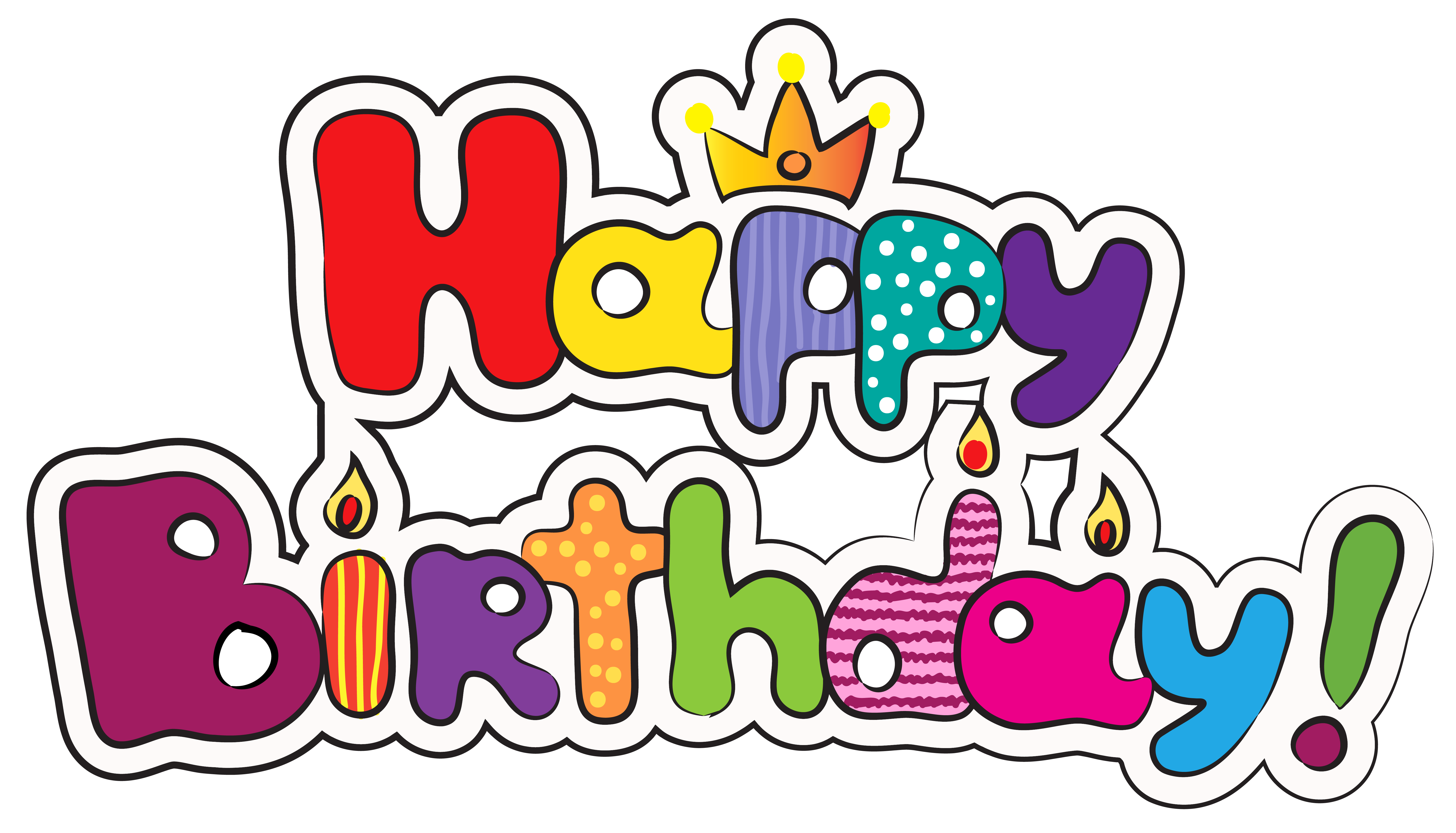 jpg black and white Happy birthday clipart for facebook. Cake clip art colorful