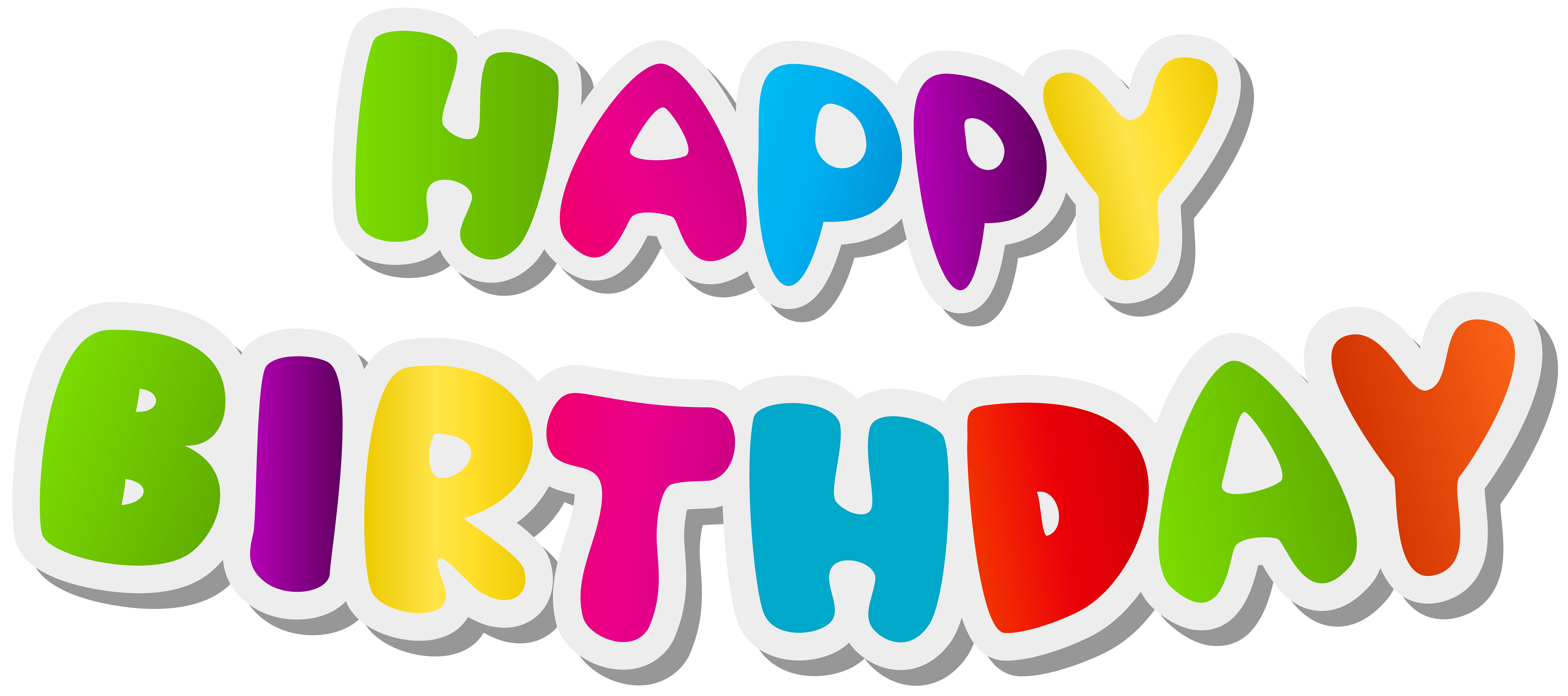 banner black and white download Happy birthday clipart for facebook. Text png clip art