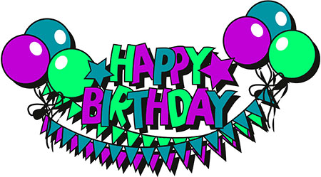 transparent stock Happy birthday clipart for him. Free animations