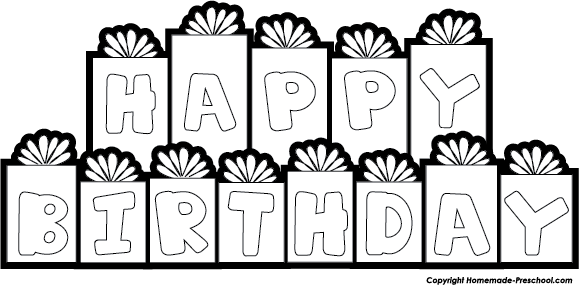 vector freeuse library Black and white . Happy birthday clipart for him