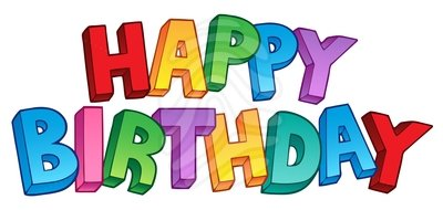 banner black and white Happy birthday clipart images. Free clip art and