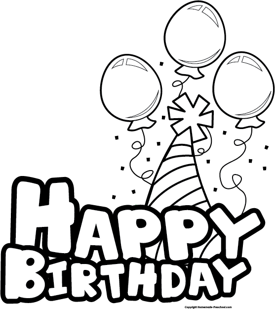 vector royalty free stock Black and white. Happy birthday clipart images