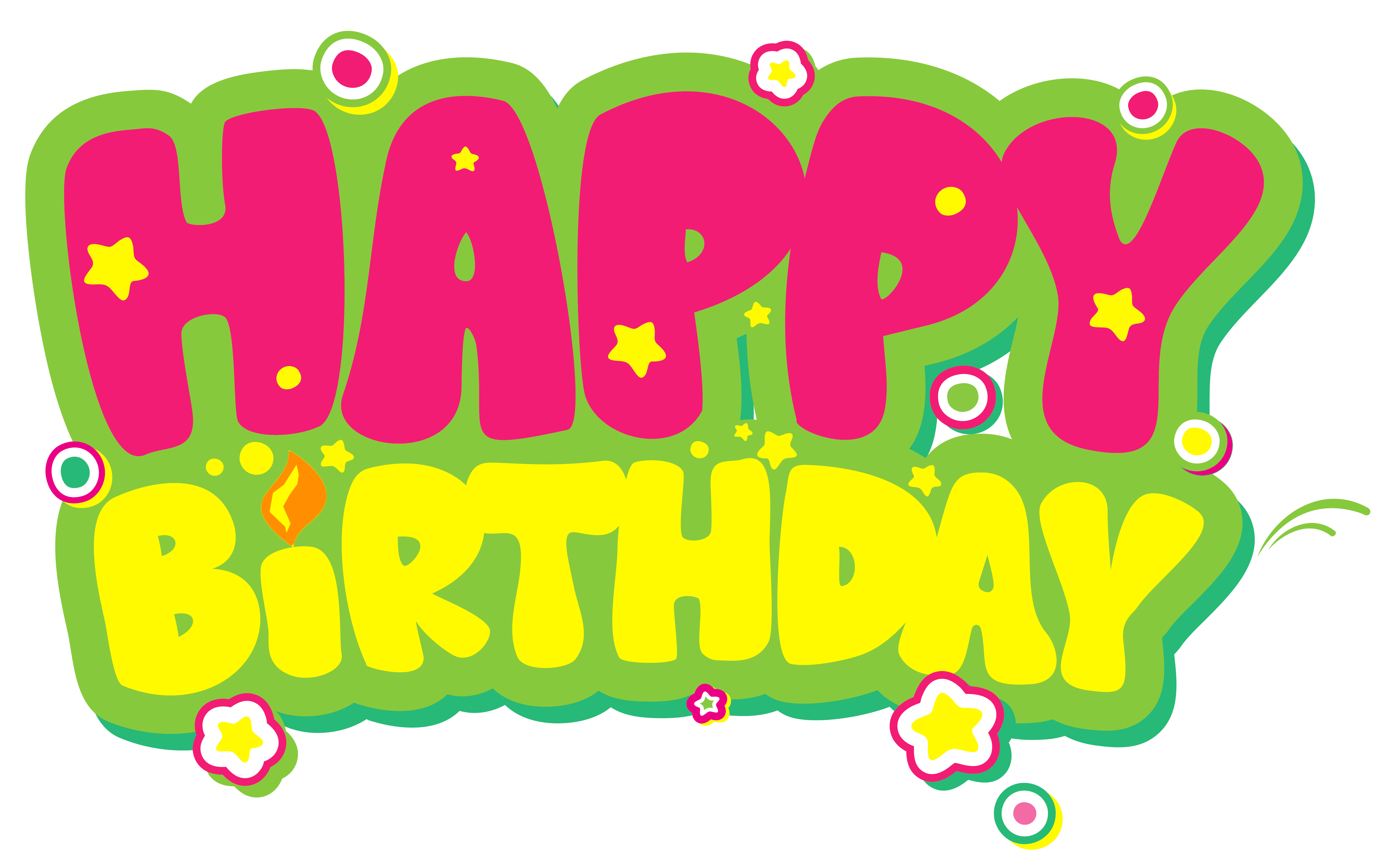svg black and white download Yellow and pink clip. Happy birthday clipart images