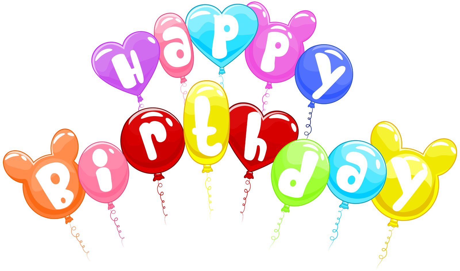 vector freeuse library Happy birthday clipart images. Text art design in