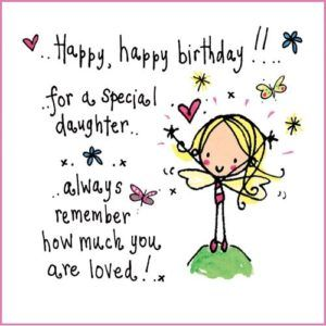 vector freeuse stock Images for wishes and. Happy birthday daughter clipart