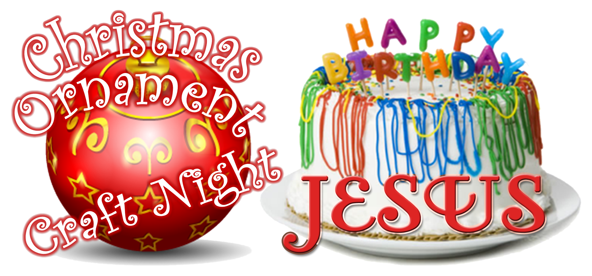 transparent download Happy birthday jesus clipart. Awana christmas ornament night