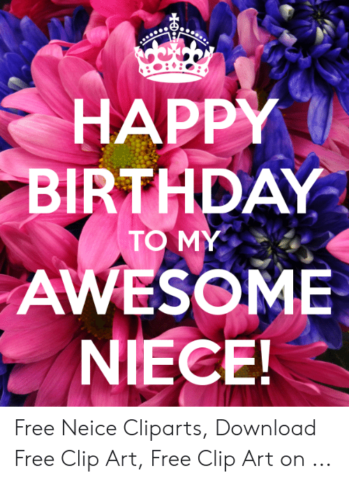 jpg library download Awesome free neice cliparts. Happy birthday niece clipart