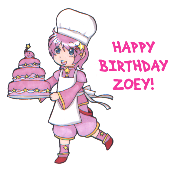 picture Thinking pink zoey my. Happy birthday niece clipart