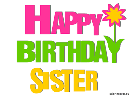 jpg free library Image result for free. Happy birthday sister clipart
