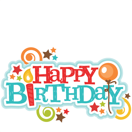 clip library stock Happy birthday to me clipart. Title svg scrapbook cut