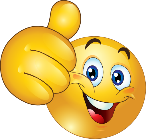 clip library stock Thumbs up happy emoticon. Smiley clipart.