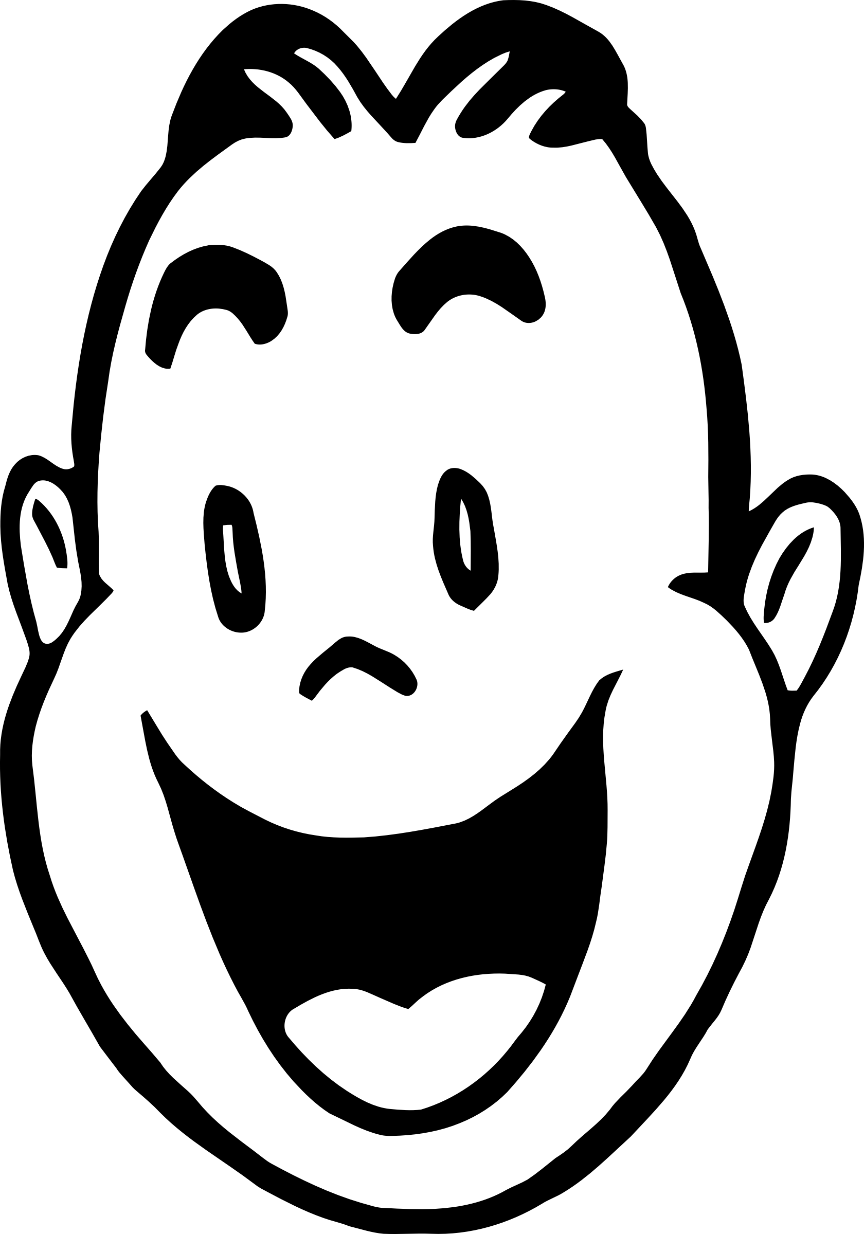 clip art library library  collection of people. Happy face clipart black and white