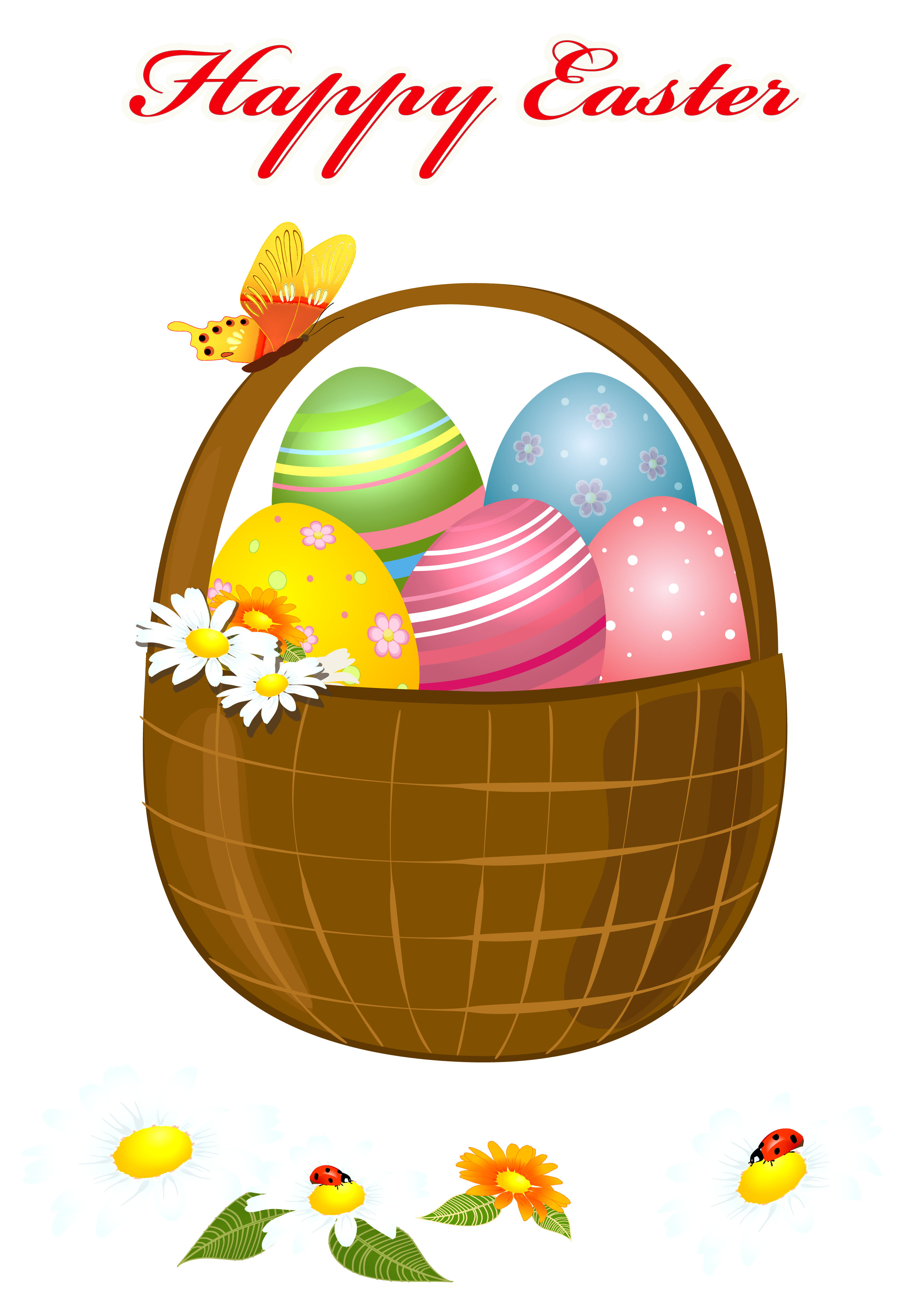 vector freeuse download Happy Easter Basket PNG Picture Clipart