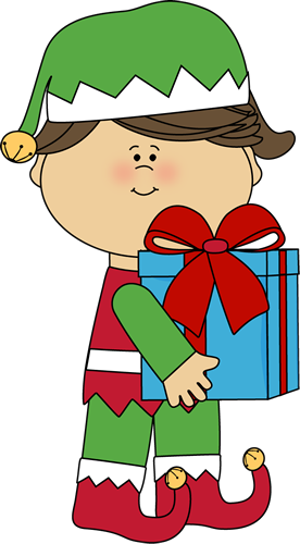 png free download Female Christmas Elf Clipart