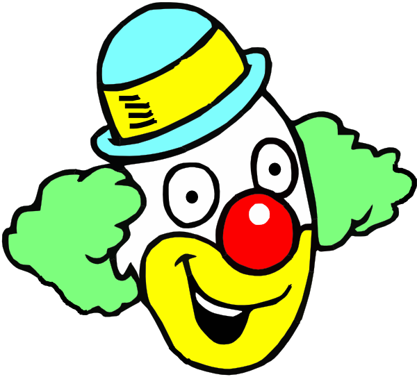 banner black and white library Face clip art at. Happy clown clipart