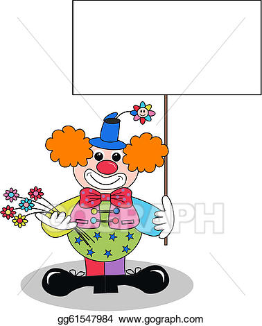 picture royalty free stock Vector art a eps. Happy clown clipart