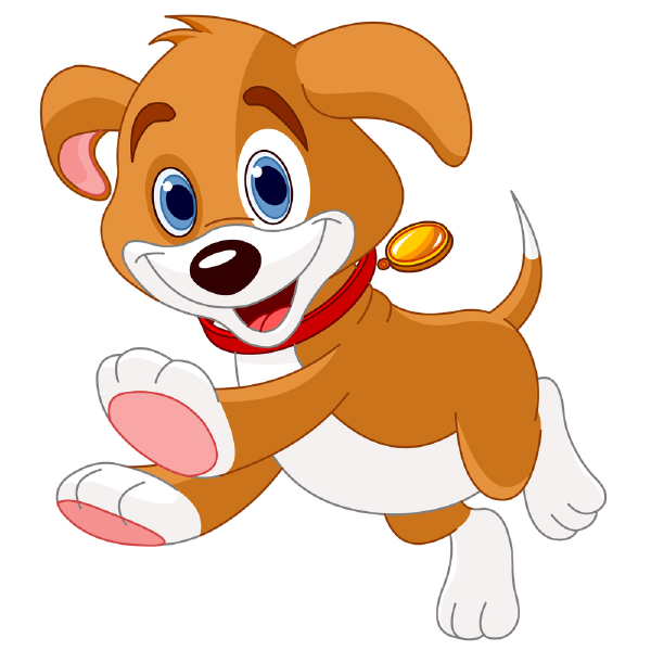 graphic royalty free Puppy animal icons cartoon. Happy dogs clipart
