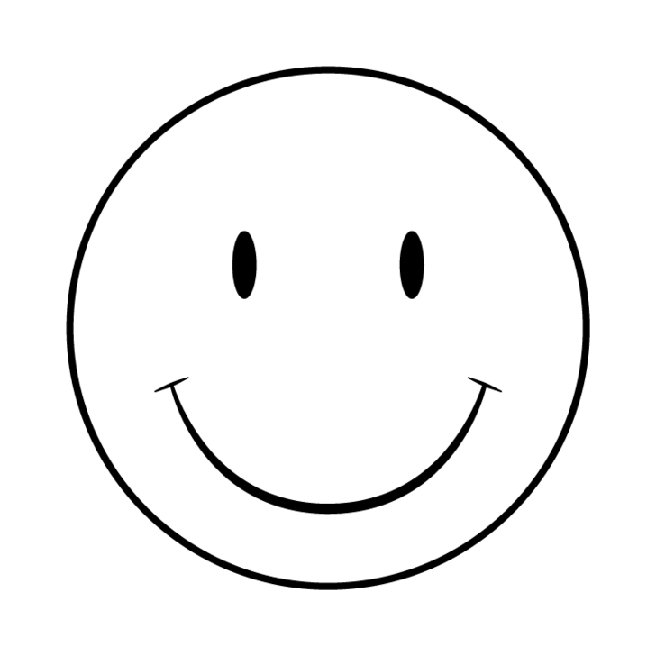jpg black and white stock Happy face clipart black and white.  collection of smiley