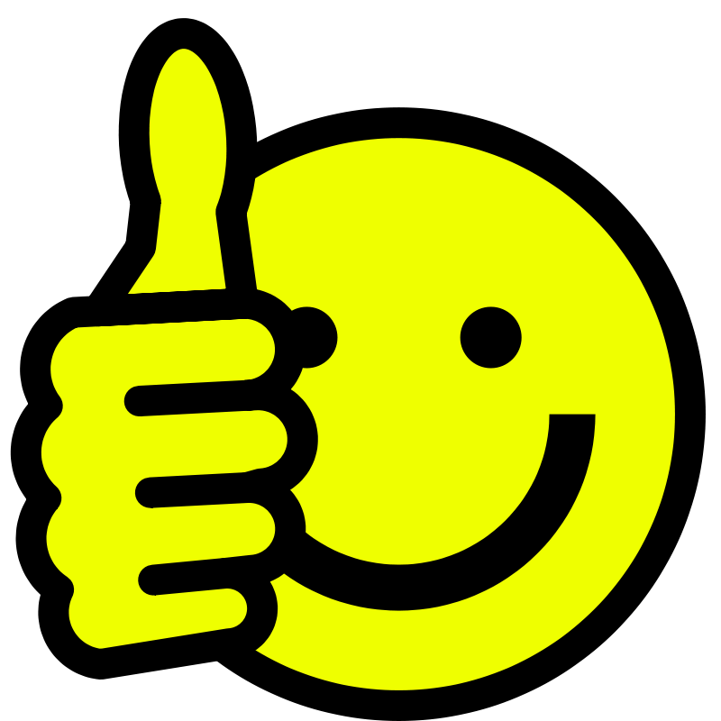 picture Smiley Face Thumbs Up Clipart Black And White