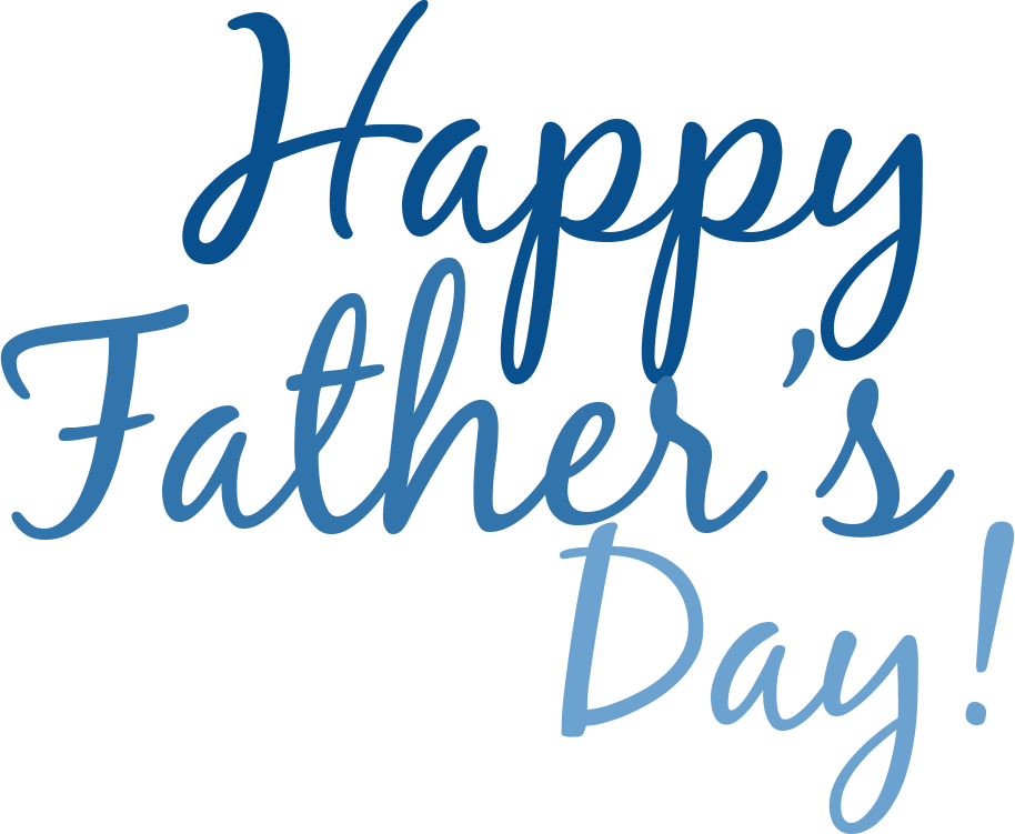 vector black and white stock Happy Fathers Day Simple Text transparent PNG