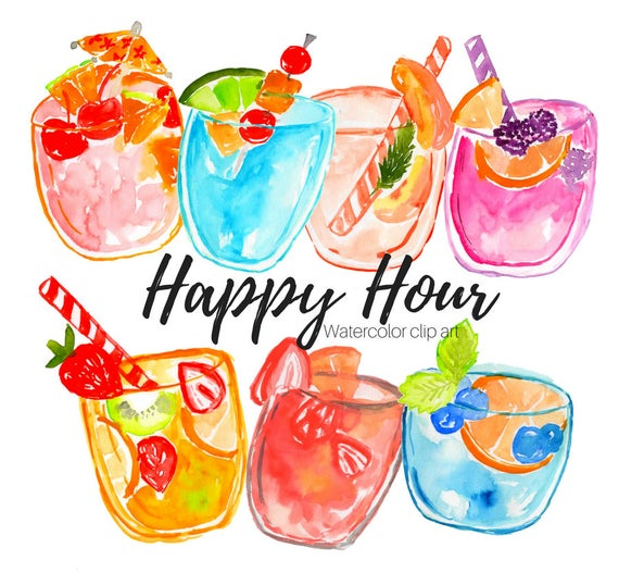image download Happy hour clipart. Clip art drinks food