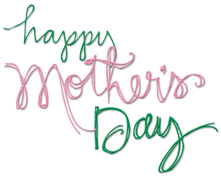 banner black and white stock Png . Happy mothers day clipart