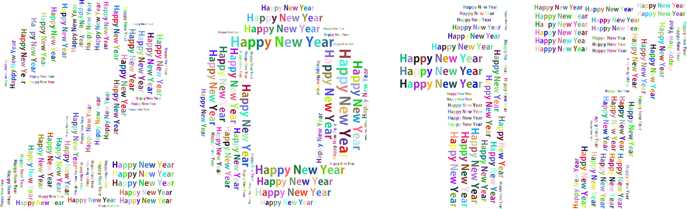 clipart royalty free stock Prismatic word cloud no. Clipart happy new year 2017