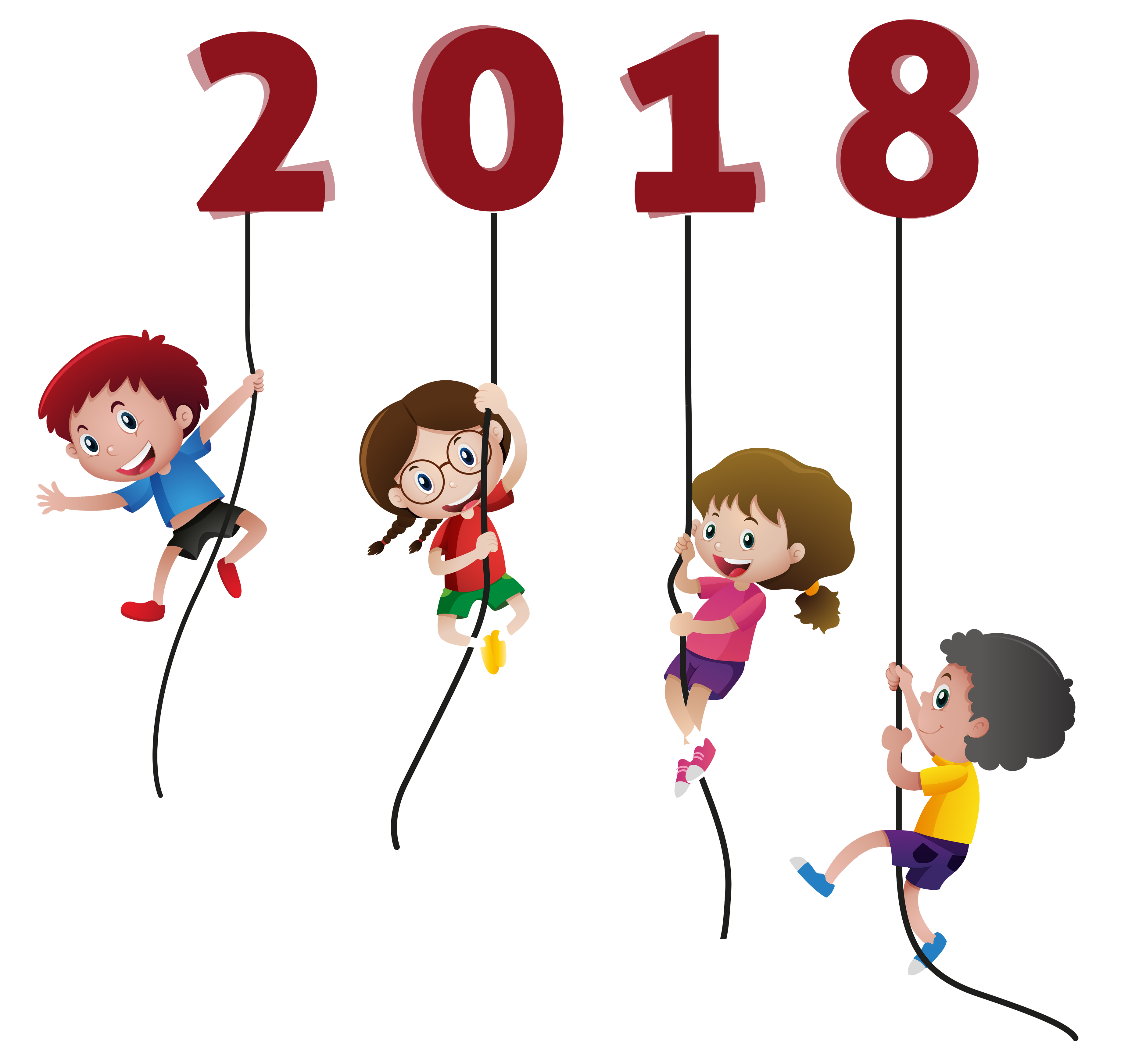 graphic free library Kids funny without background. Free happy new year clipart