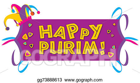 png freeuse library Stock illustration with a. Happy purim clipart