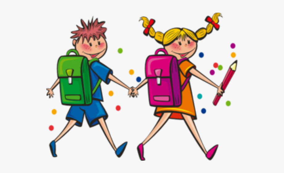 graphic free download Happy students clipart. Kids in school