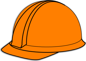 stock Hard clipart. Orange hat clip art.
