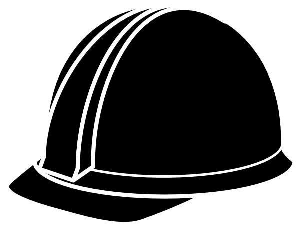 image freeuse library Construction worker hat clipart. Black hard clip art.