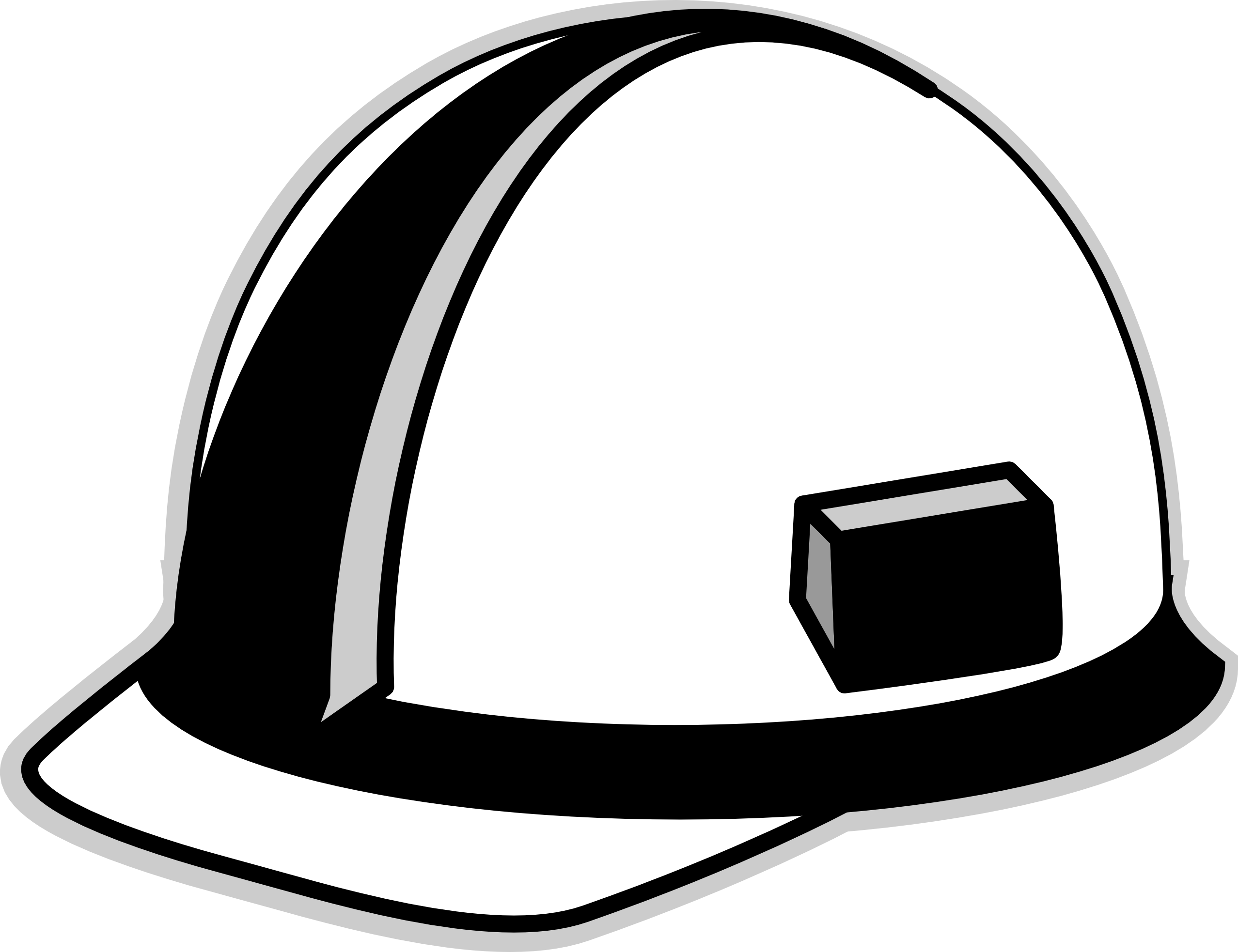 picture black and white library Construction worker hat clipart. Hard art image group.