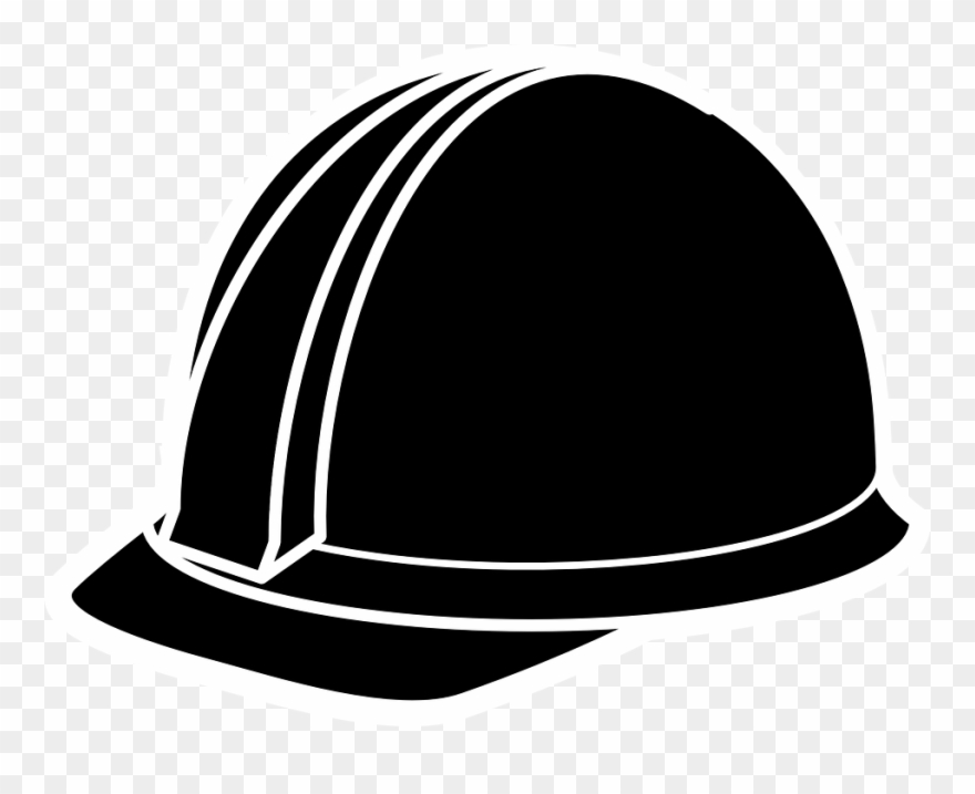 clipart royalty free library Construction worker hat clipart. Hard black helmet safety.