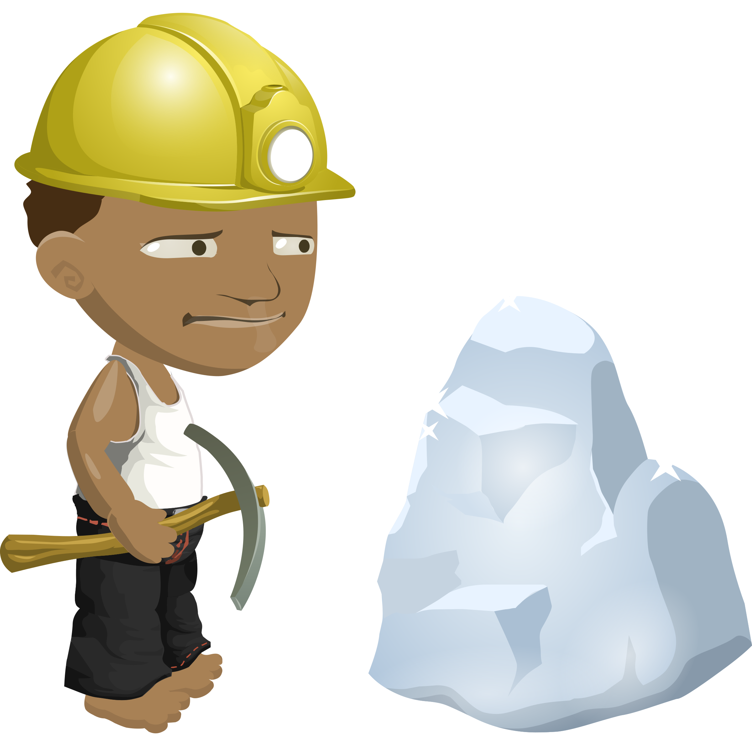vector stock Hard working person clipart. African miner big image.