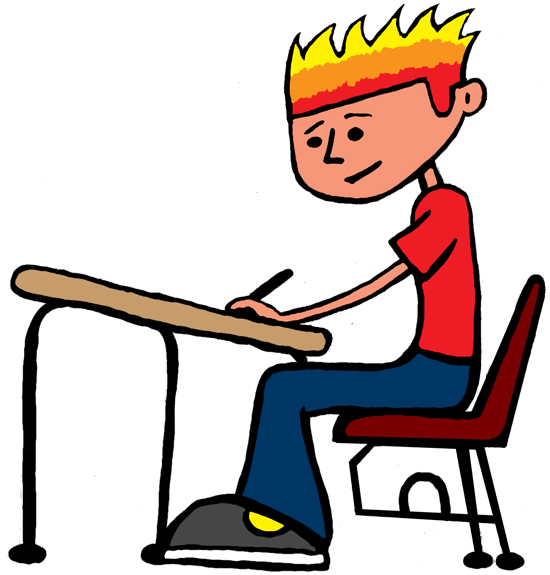 png free library Hard working student clipart. .