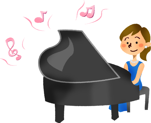 picture Hard working woman clipart. Playing piano recital free.